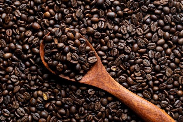 Vista superior do grão de café