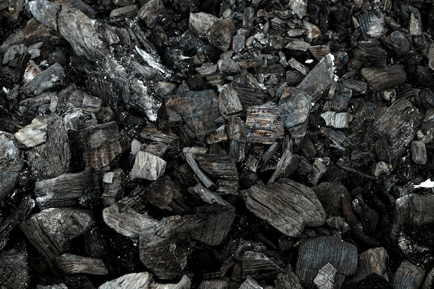 Vista superior do grelhador a carvão