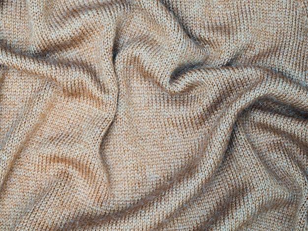Vista superior do lençol textura de tecido