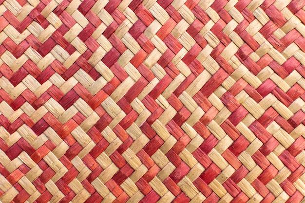 Vista superior do padrão de tecelagem