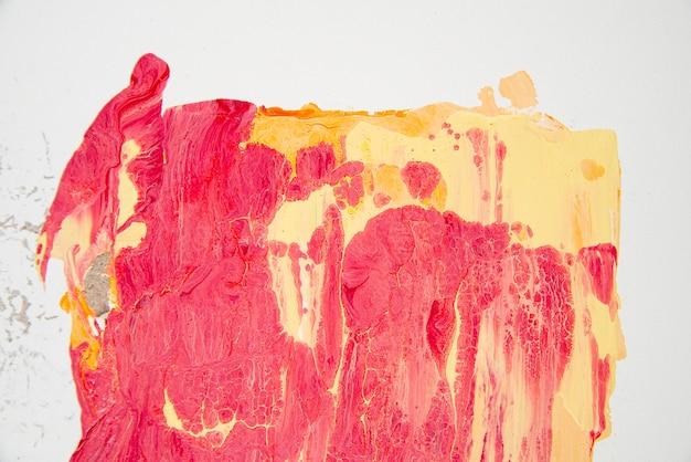 Vista superior do papel de parede de tinta acrílica