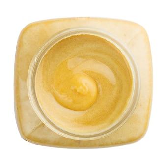 Vista superior do pote de mel
