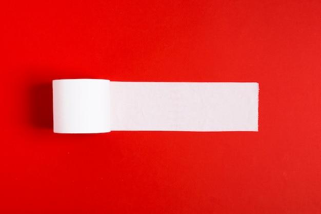 Vista superior do rolo de papel higiênico