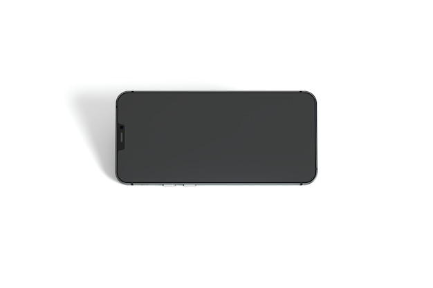 Vista superior do smartphone em fundo branco