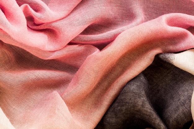 Vista superior do tecido