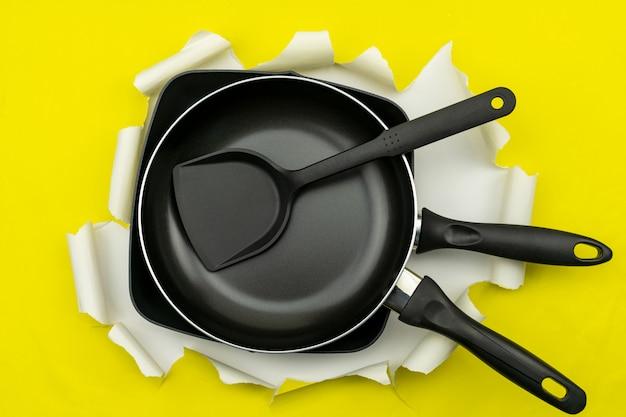 Vista superior do utensílio de cozinha