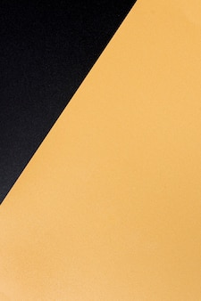 Vista superior elegante superfície dourada com espaço de cópia