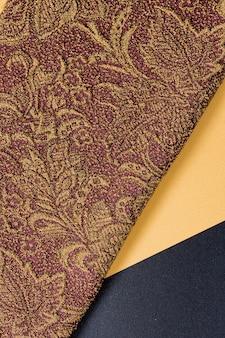 Vista superior elegante textura suave