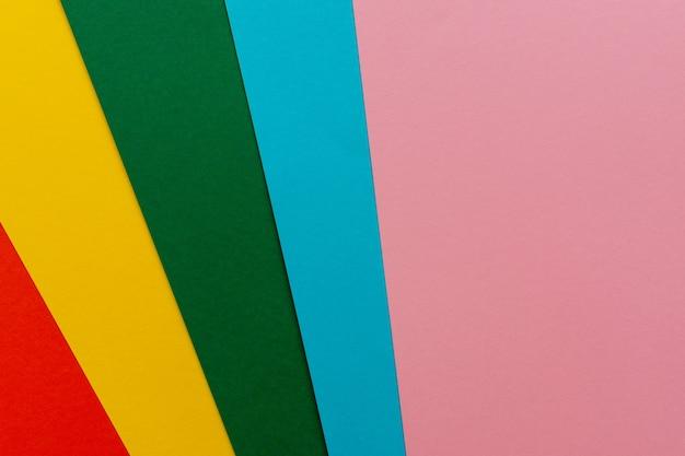 Vista superior em colorido brilhante abstrato