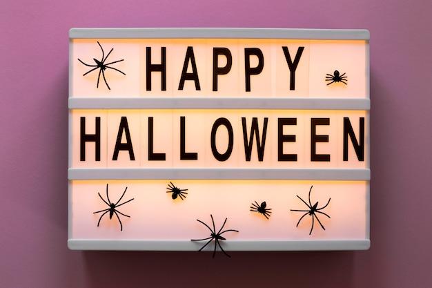 Vista superior feliz conceito de halloween