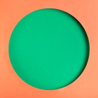 Vista superior forma de círculo de papel artesanal