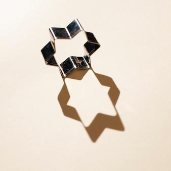Vista superior forma de estrela com sombra