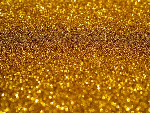 Vista superior fundo de glitter dourado