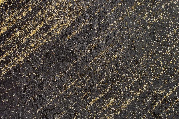 Vista superior fundo glitter dourado