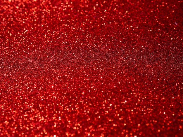 Vista superior fundo glitter vermelho