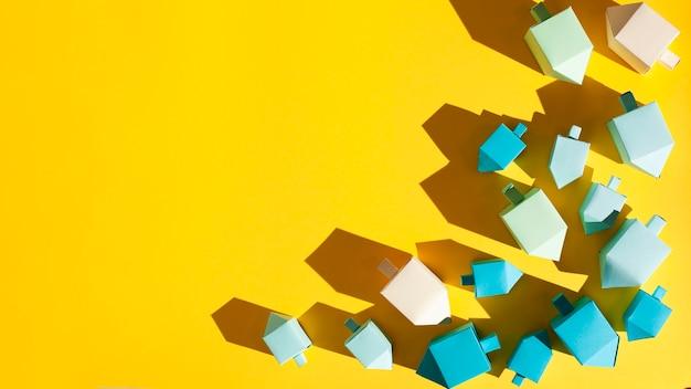 Vista superior hanukkah dreidel com espaço de cópia