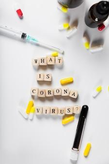 Vista superior o que é o conceito de coronavírus