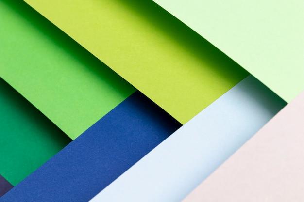 Vista superior padrão com cores frias