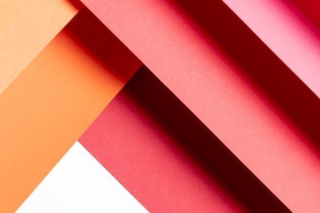 Vista superior padrão de cores quentes