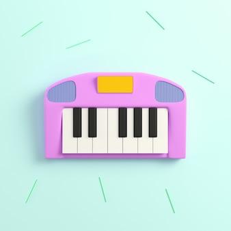 Vista superior renderização 3d de piano