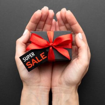 Vista superior sortimento de vendas de sexta-feira negra