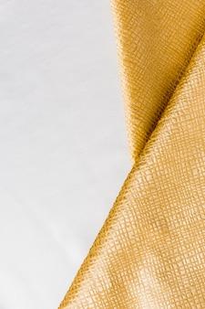 Vista superior suave textura dourada