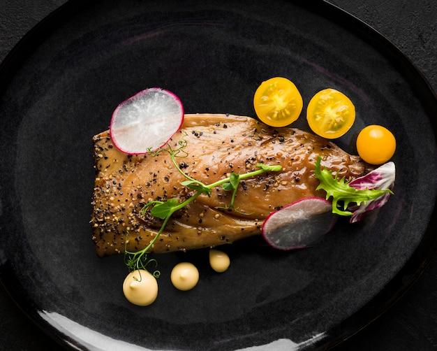 Vista superior variedade de pratos deliciosos