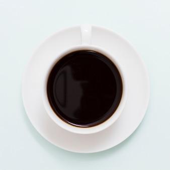 Vista superior, xícara café