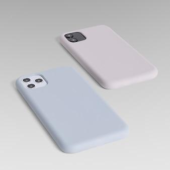 Vista traseira da demonstração do produto da capa para celular