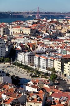 Vista vertical de lisboa, portugal