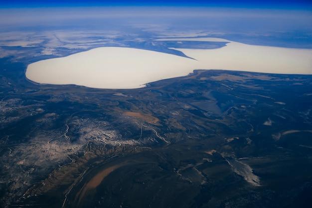 Vistas aéreas da paisagem