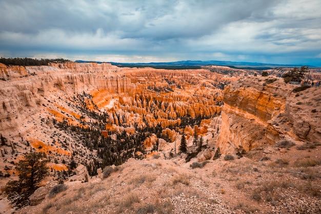 Vistas do inspiration point no parque nacional de bryce. utah, estados unidos