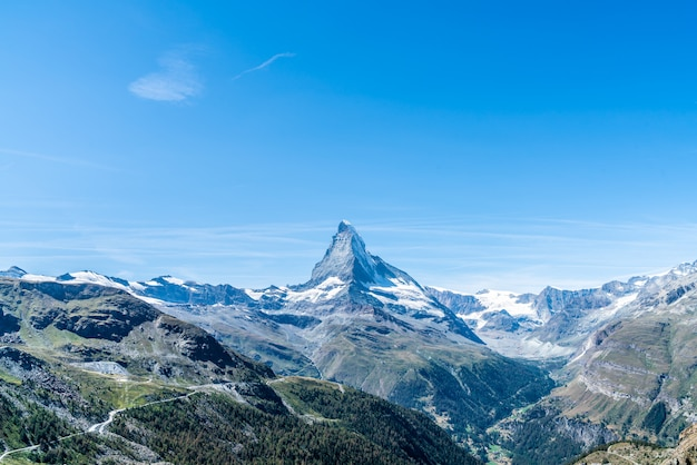 Vistas do pico de matterhorn em zermatt, suíça.