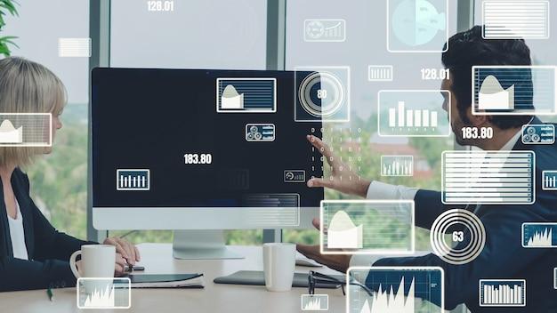 Visual criativo da tecnologia de análise de dados de negócios