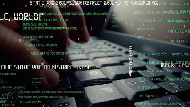 Visual criativo de codificação de programação de computador e desenvolvimento de software