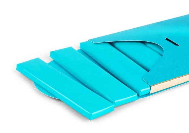 Visual do pacote de folha de plástico azul, embalagem ou invólucro para biscoito,