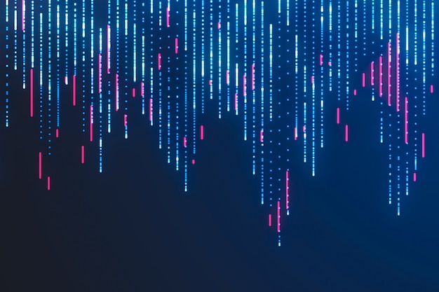 Visualização de big data. sci fi fundo