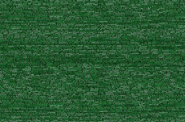 Visualização do programa de computador. digitação de código de programação