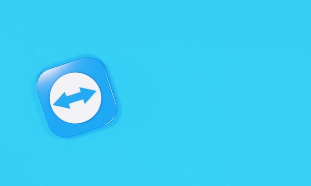 Visualizador de equipe de logotipo de ícone de renderização 3d