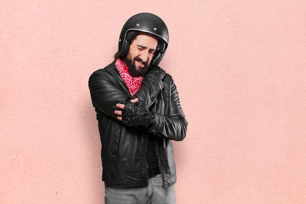 Vítima de acidente de motociclista
