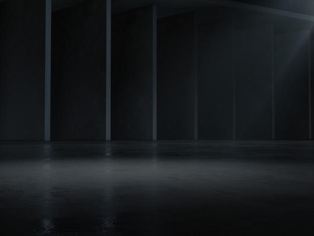 Vitrine de produto com ponto de luz aceso