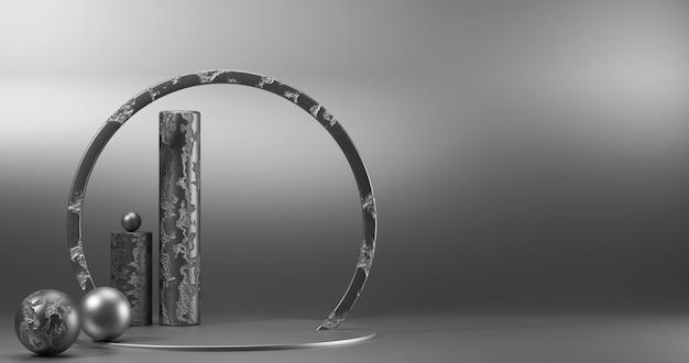 Vitrine minimalista com espaço vazio.