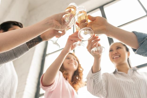 Vivas com champanhe