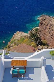 Vivenda de luxo com vista para o mar em santorini