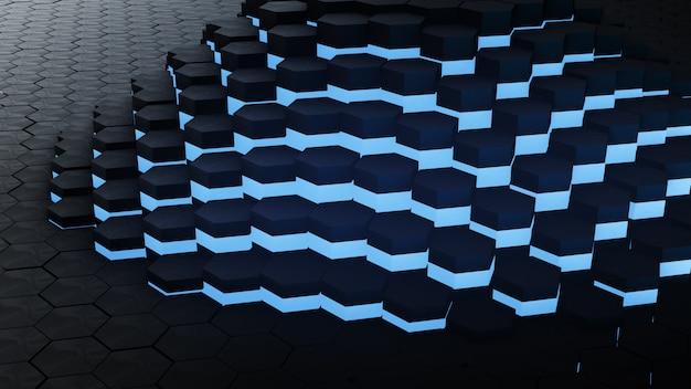 Vj hexagon glow digital