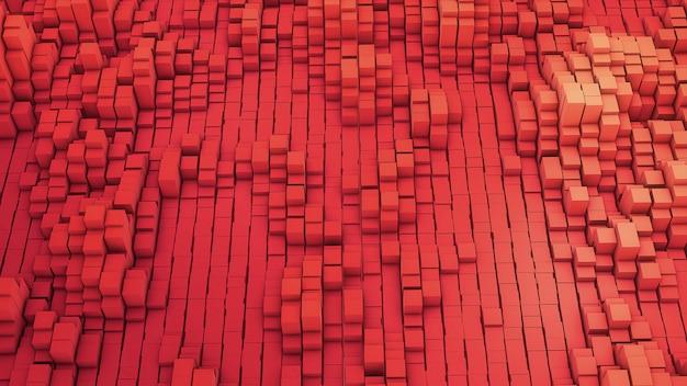 Vj vermelho dos quadrados brancos