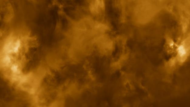 Voando através das nuvens tempestuosas iluminadas com relâmpago ilustração 3d flash