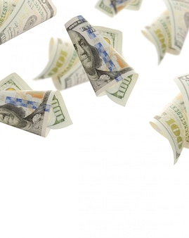 Voar cem notas de dólar