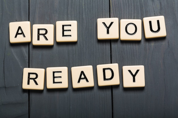 Você está pronto? cartão