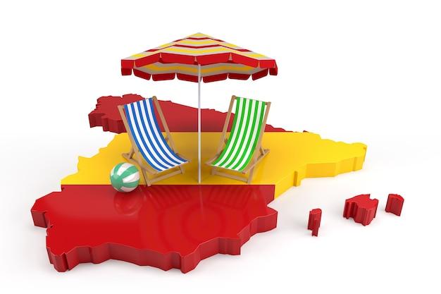 Você está pronto para as férias de verão na espanha? renderização 3d